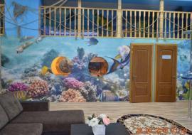 апартаменты с террасой (двухуровневые) (4+2) - Крым  Партенит гостиница с бассейном