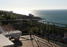 Щепкина - Двухкомнатный люкс: в Крыму Алупка вид на море